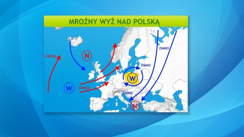 Wyż utrzymuje zimno nad Polską