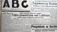 """Trąba powietrzna w Lublinie 20 lipca 1931 r. Artykuł w """"ABC"""""""