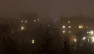 Wieczór w Krakowie ze smogiem
