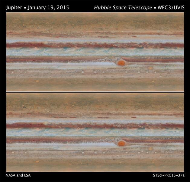 Najnowsze zdjęcia powierzchni Jowisza (NASA)