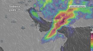 Opady deszczu nad Zjednoczonymi Emiratami Arabskimi