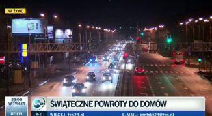 W środowy wieczór sytuacja na drogach nie była trudna. Potem taka będzie (TVN24)